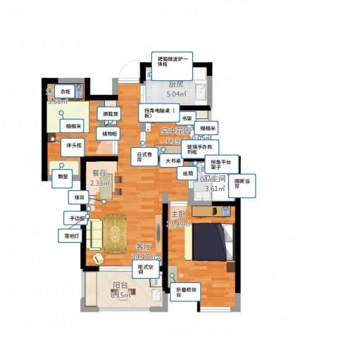 绿地香树花城1室1厅1卫1厨100.00㎡户型图