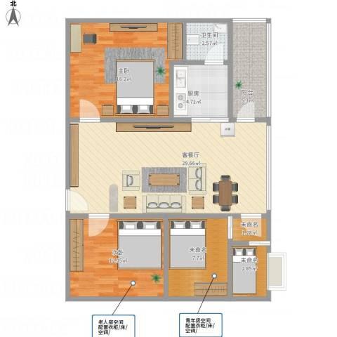 盛嘉苑2室1厅1卫1厨115.00㎡户型图
