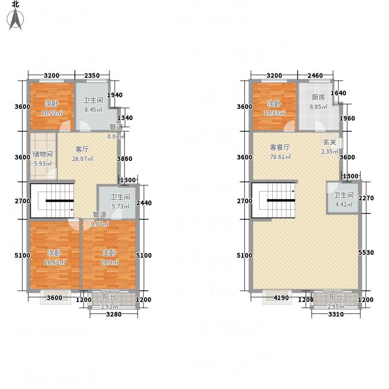 金宇圣地243.30㎡一期2号楼三层A-a户型4室3厅3卫1厨