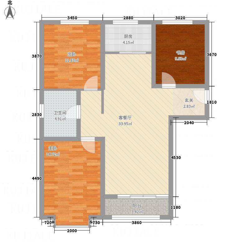 世贸广场115.00㎡2号楼户型