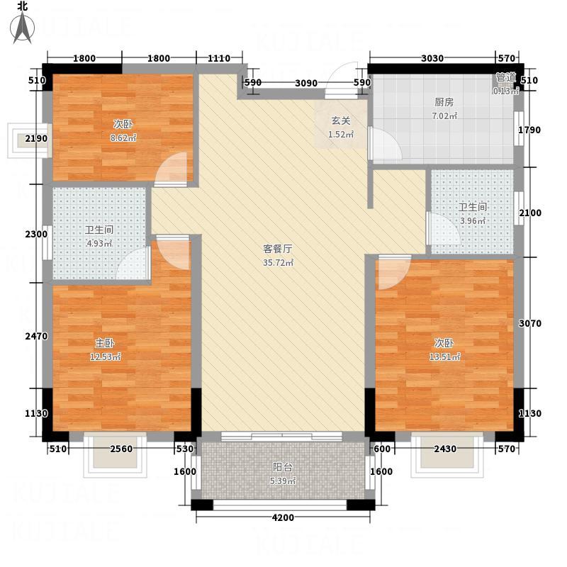 大地・潜龙山居11.00㎡B1户型3室2厅2卫