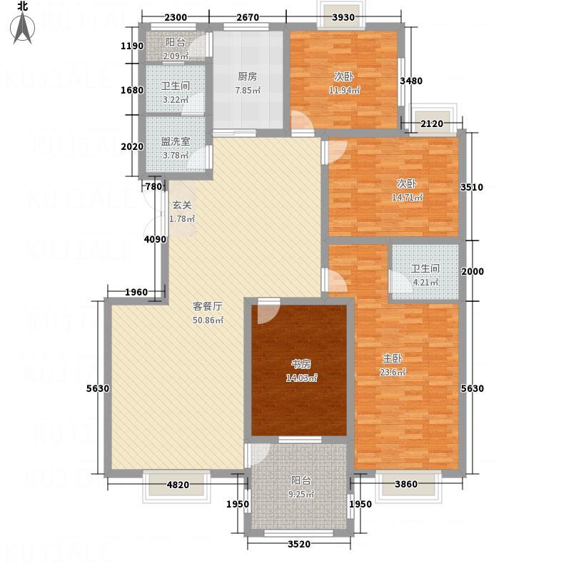 金玉花园144225.52㎡14#L户型4室2厅2卫1厨