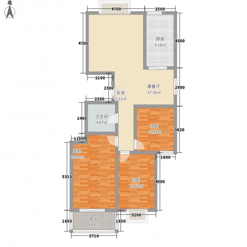 金都大厦户型3室