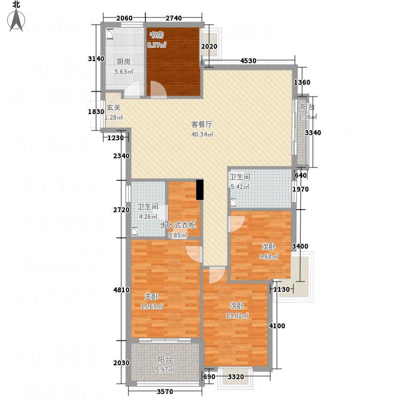 水印华庭422135.19㎡D户型4室2厅2卫1厨