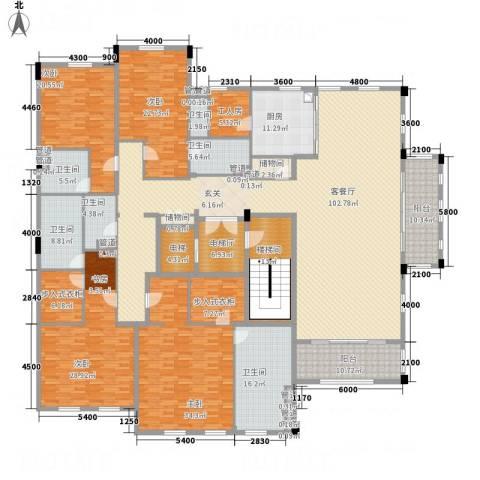 绿城玉兰花园・御园4室1厅6卫1厨398.00㎡户型图