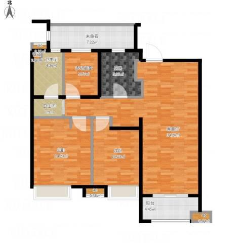 万科中环国际城海上传奇2室1厅7卫1厨127.00㎡户型图