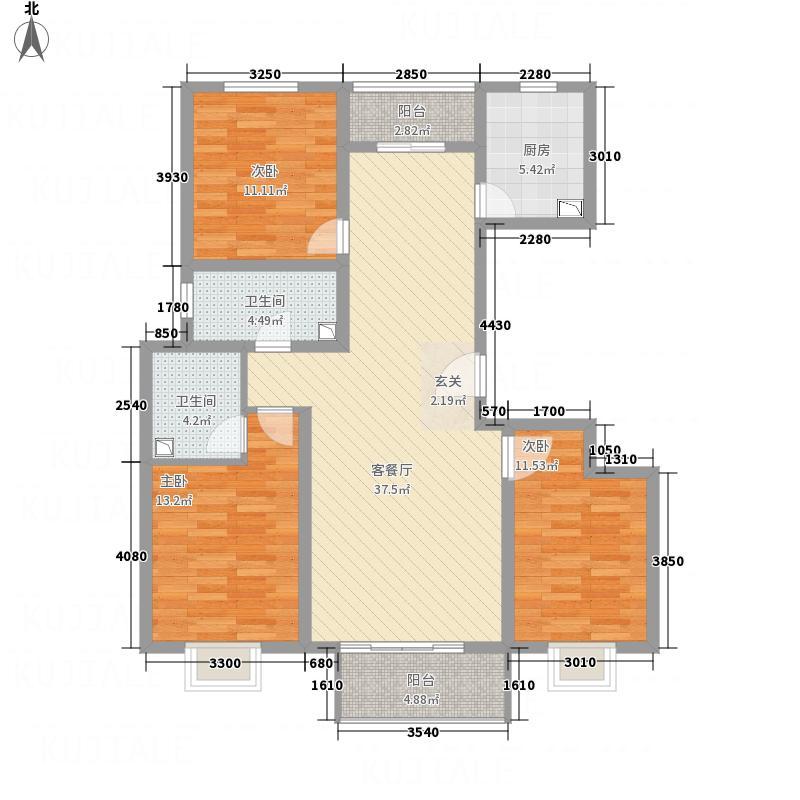 未来花郡137.40㎡G1户型3室2厅2卫1厨