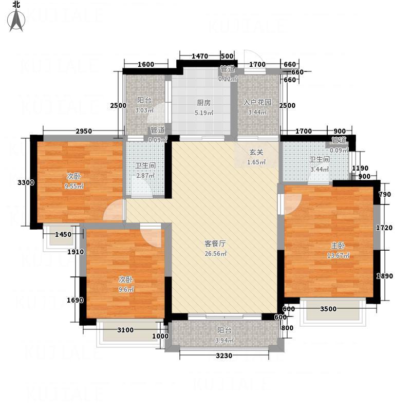 星城翠珑湾17.00㎡风姿物语12栋1、2、3单元户型3室2厅2卫1厨
