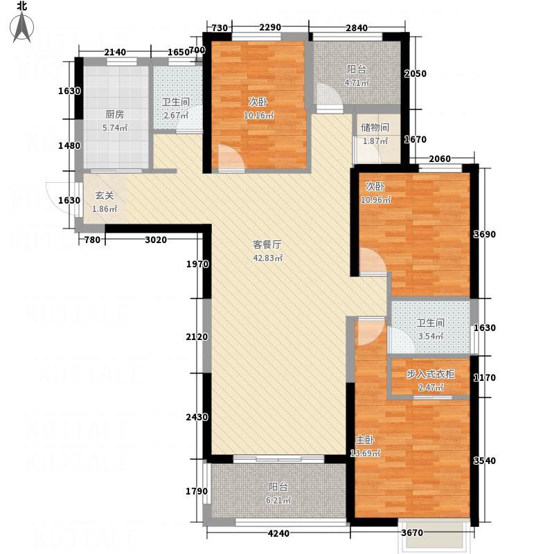九龙城148.60㎡四期4号楼C-4户型3室2厅2卫1厨