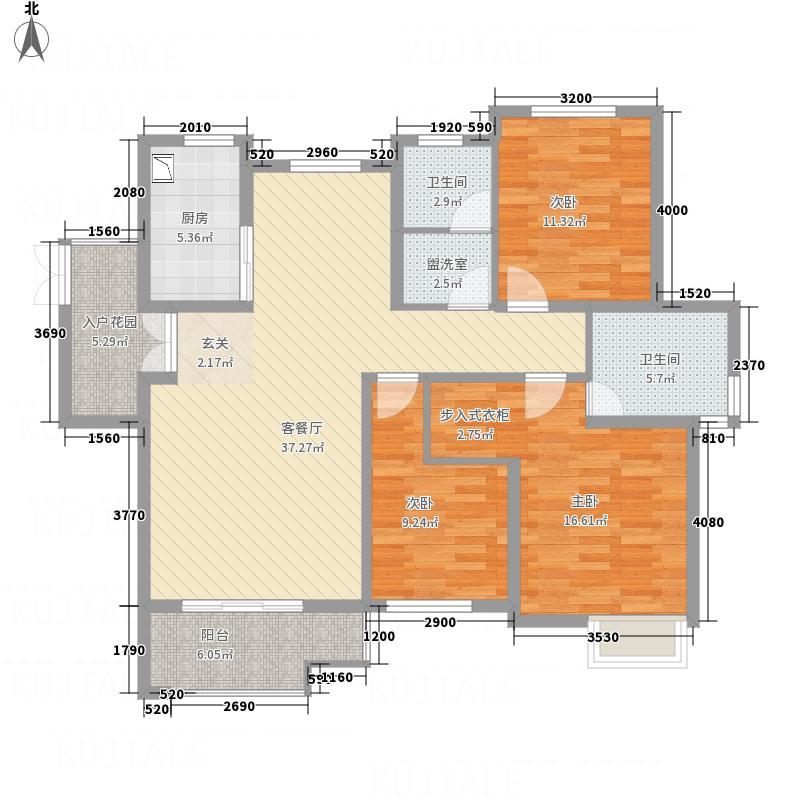 屯浦阳光137.77㎡A2户型3室2厅2卫1厨