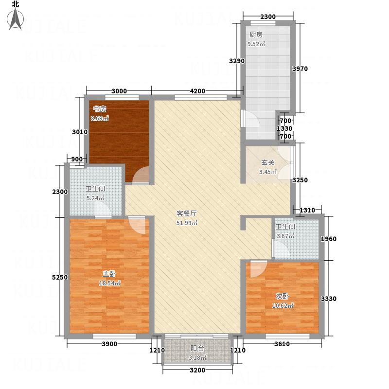 首创・象墅D反户型3室2厅2卫1厨