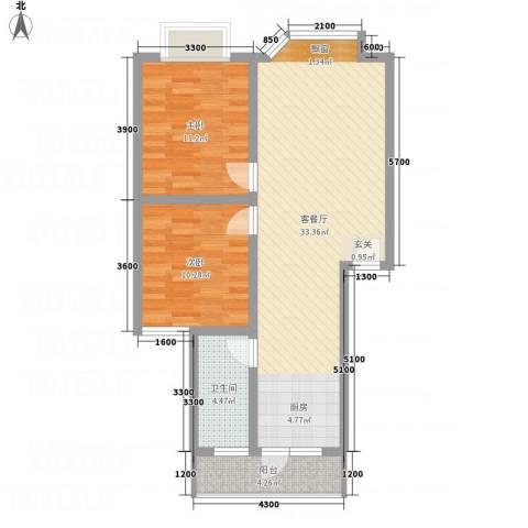 福泽源2室1厅1卫0厨91.00㎡户型图