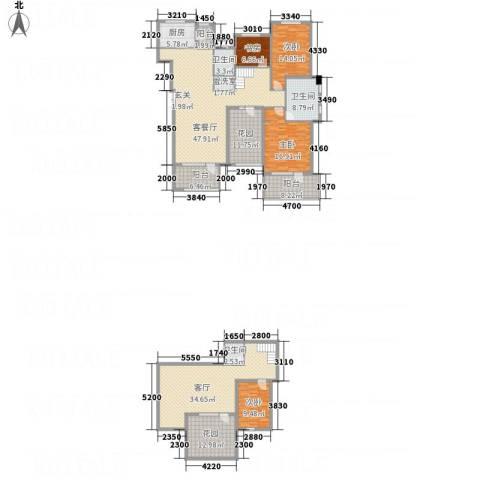 名家汇4室3厅3卫1厨272.00㎡户型图