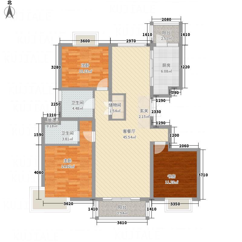 中交凯旋城14.00㎡C1户型3室2厅2卫1厨
