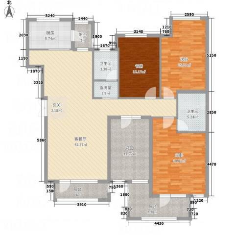 名家汇3室2厅2卫1厨182.00㎡户型图