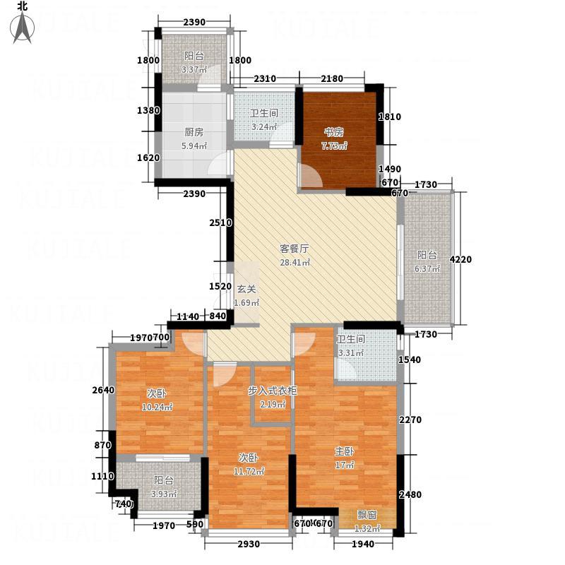 佳源优优花园4室1厅2卫1厨148.00㎡户型图