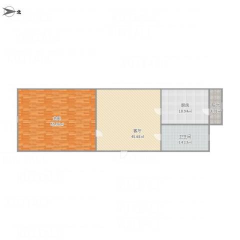 宜白南里1室1厅1卫1厨181.00㎡户型图
