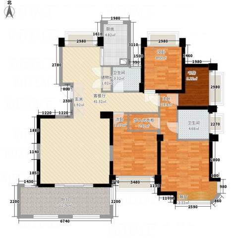 瑶溪金御湾4室1厅2卫1厨164.00㎡户型图
