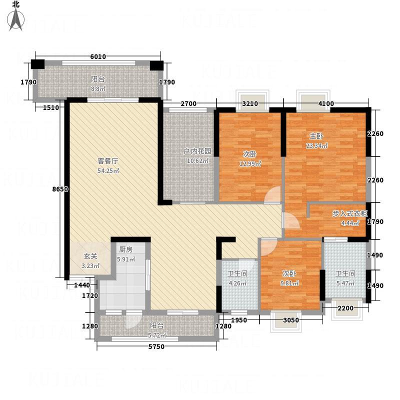 御景名城177.80㎡8栋2单元户型3室2厅2卫1厨
