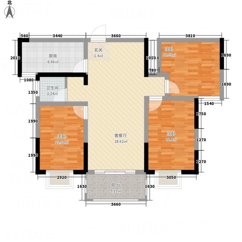 佳田・未来城G3户型3室2厅1卫