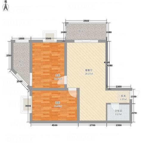 经开观澜港2室1厅1卫0厨72.83㎡户型图