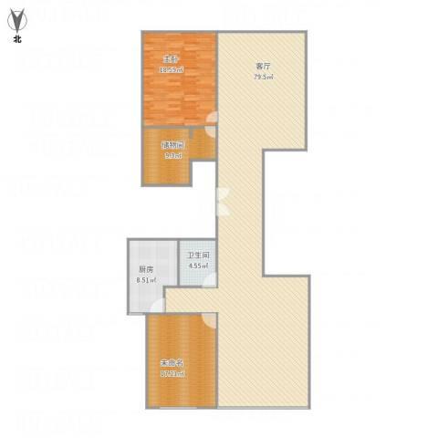 长风画卷1室1厅1卫1厨182.00㎡户型图