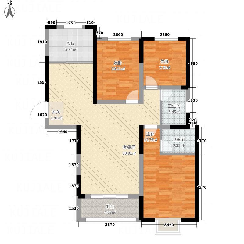 佳田・未来城12.00㎡G2户型3室2厅