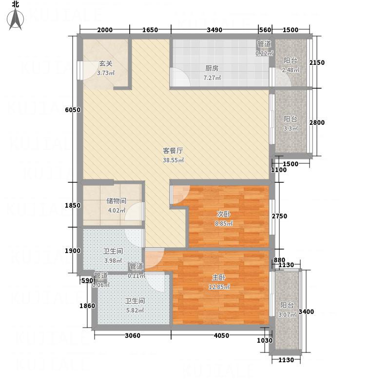 青松公寓13.00㎡户型2室