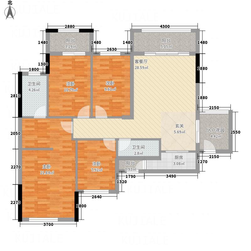 风度广场126.73㎡风度广场户型图16座01单位4室2厅2卫1厨户型4室2厅2卫1厨