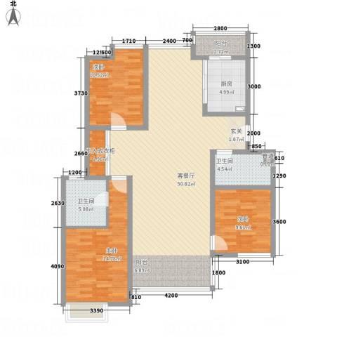 亿利傲东国际3室1厅2卫1厨243.00㎡户型图