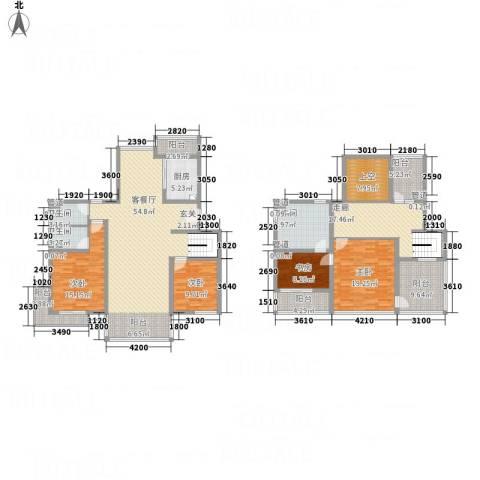 亿利傲东国际4室1厅3卫1厨180.61㎡户型图