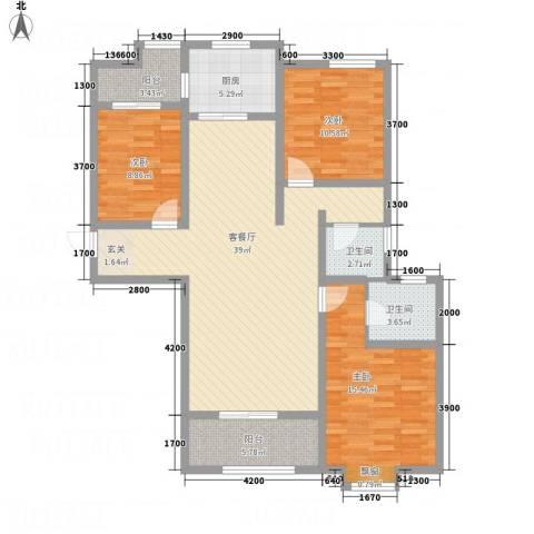 豪润・新都3室1厅2卫1厨124.00㎡户型图