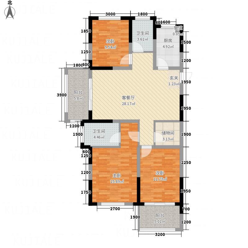 百合庄园123124.20㎡1#、2#、3#、5#楼G-E1户型3室2厅2卫1厨
