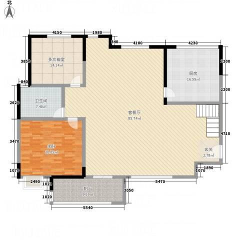 一品名门云墅1室1厅1卫1厨153.79㎡户型图