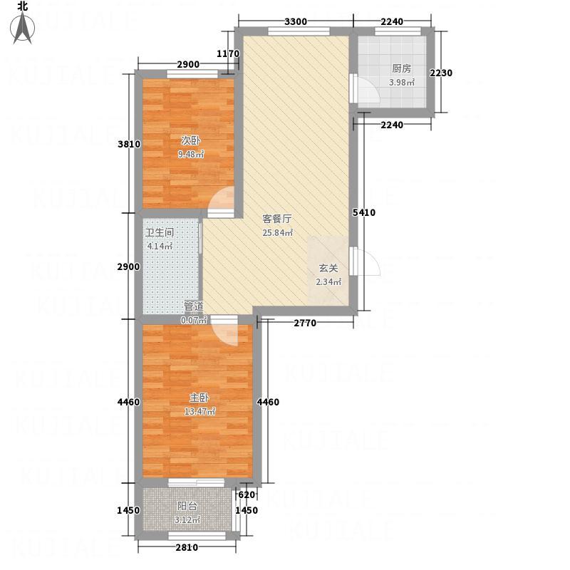 众和・凤凰城88.10㎡img137户型2室2厅1卫