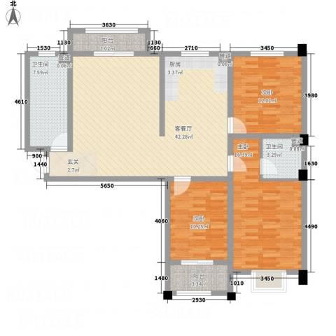 署西嘉园3室1厅2卫0厨141.00㎡户型图