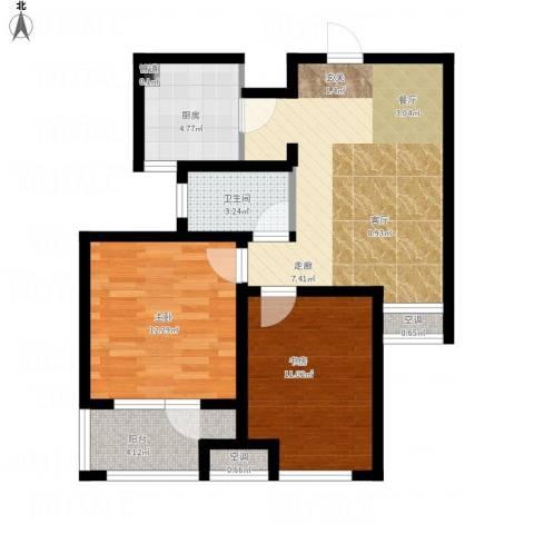 荣盛・白鹭岛2室1厅1卫1厨85.00㎡户型图