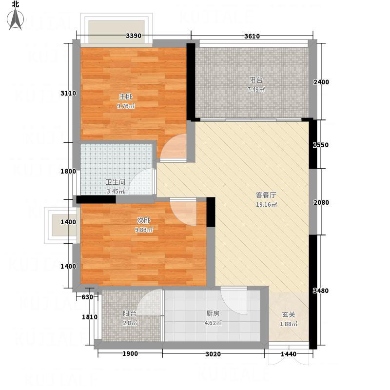 世纪滨江4期477.36㎡世纪滨江A3户型2室2厅2卫1厨
