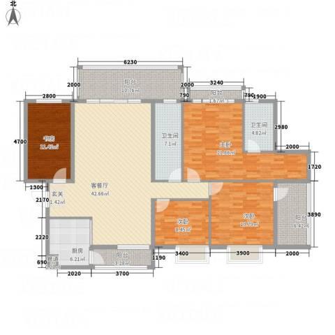 蟠龙山水豪庭4室1厅2卫1厨196.00㎡户型图