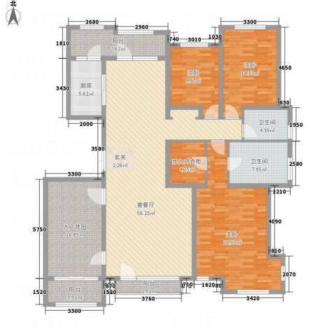 名家汇3室1厅2卫1厨227.00㎡户型图