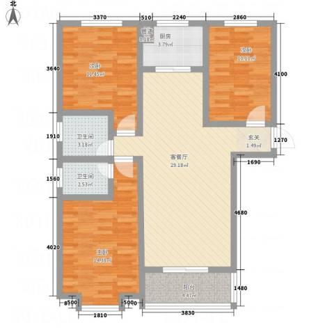 盛世郡3室1厅2卫1厨116.00㎡户型图