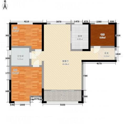 魅力熙郡3室1厅1卫1厨99.21㎡户型图