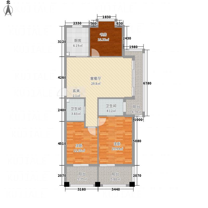 天龙湖运河城142.80㎡4户型3室2厅2卫1厨