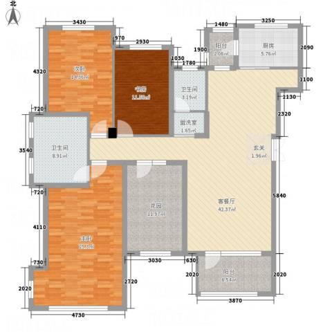 名家汇3室2厅2卫1厨189.00㎡户型图