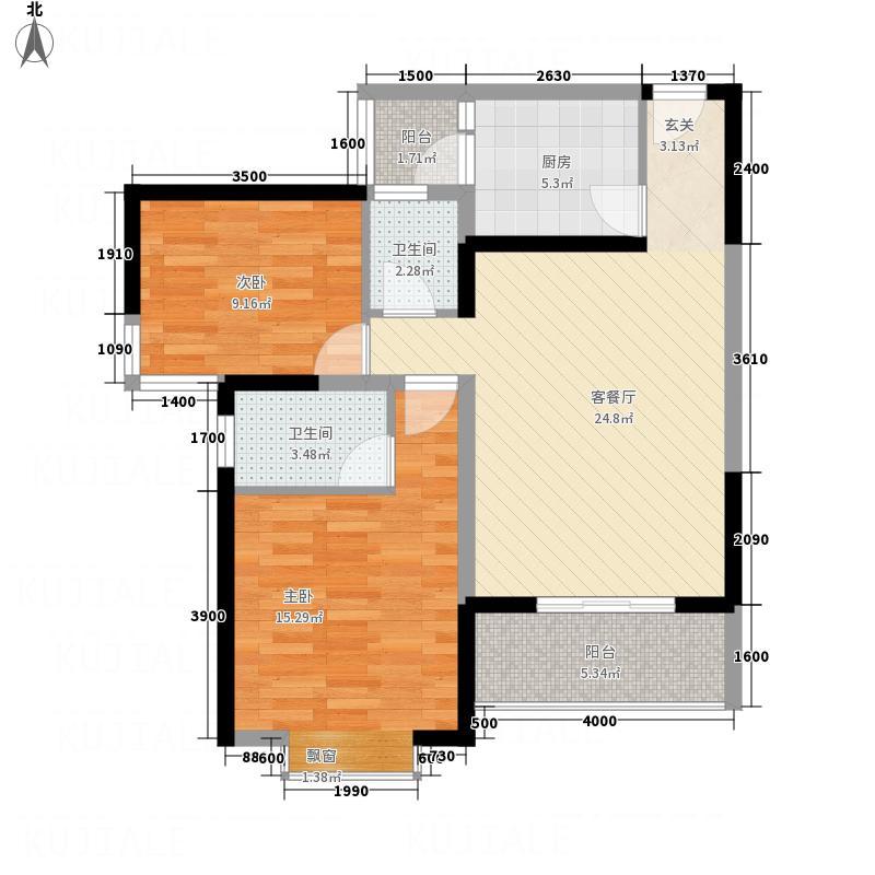 五洲国际户型2室