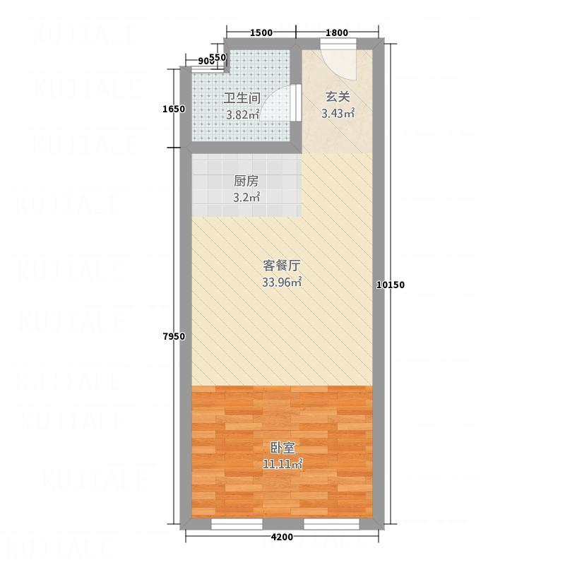 东凯万鸿2155.20㎡户型1室2厅1卫1厨