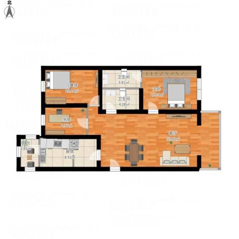 飘HOME3室1厅2卫1厨126.00㎡户型图