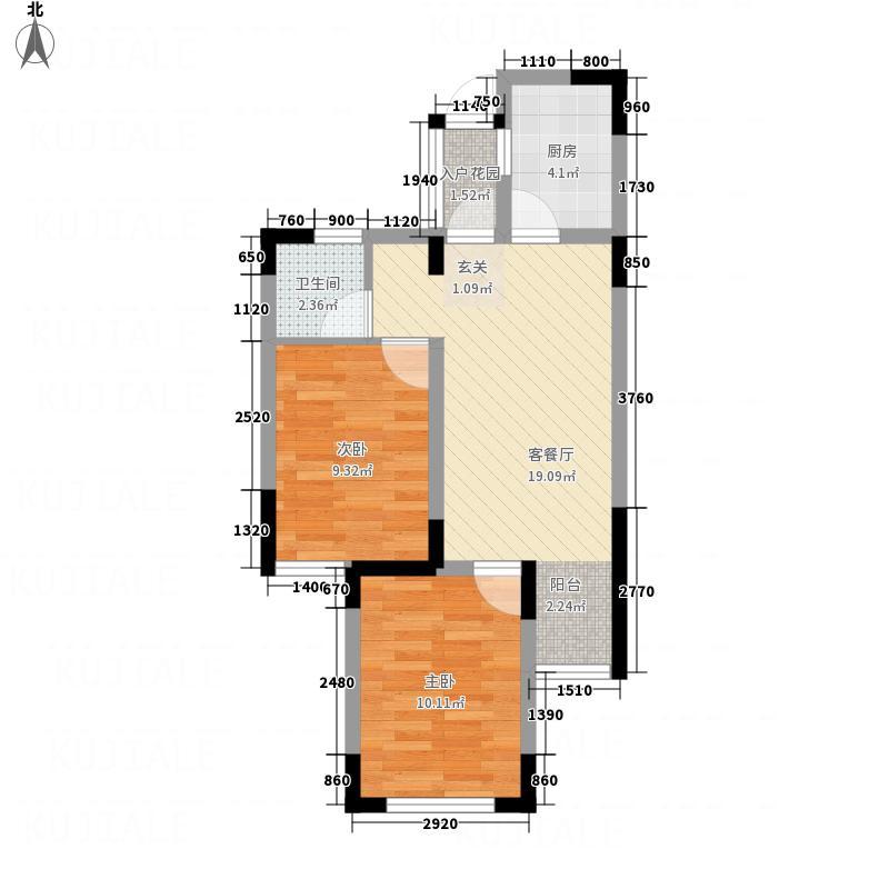 金圆幸福城一期1#2#8#楼F-2户型