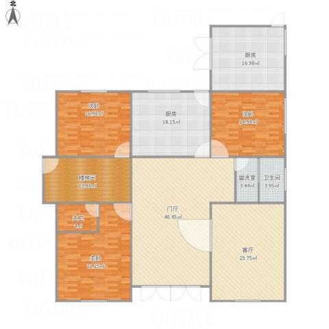 神龙小区3室2厅1卫2厨241.00㎡户型图