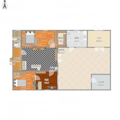静海小区3室1厅2卫1厨178.00㎡户型图